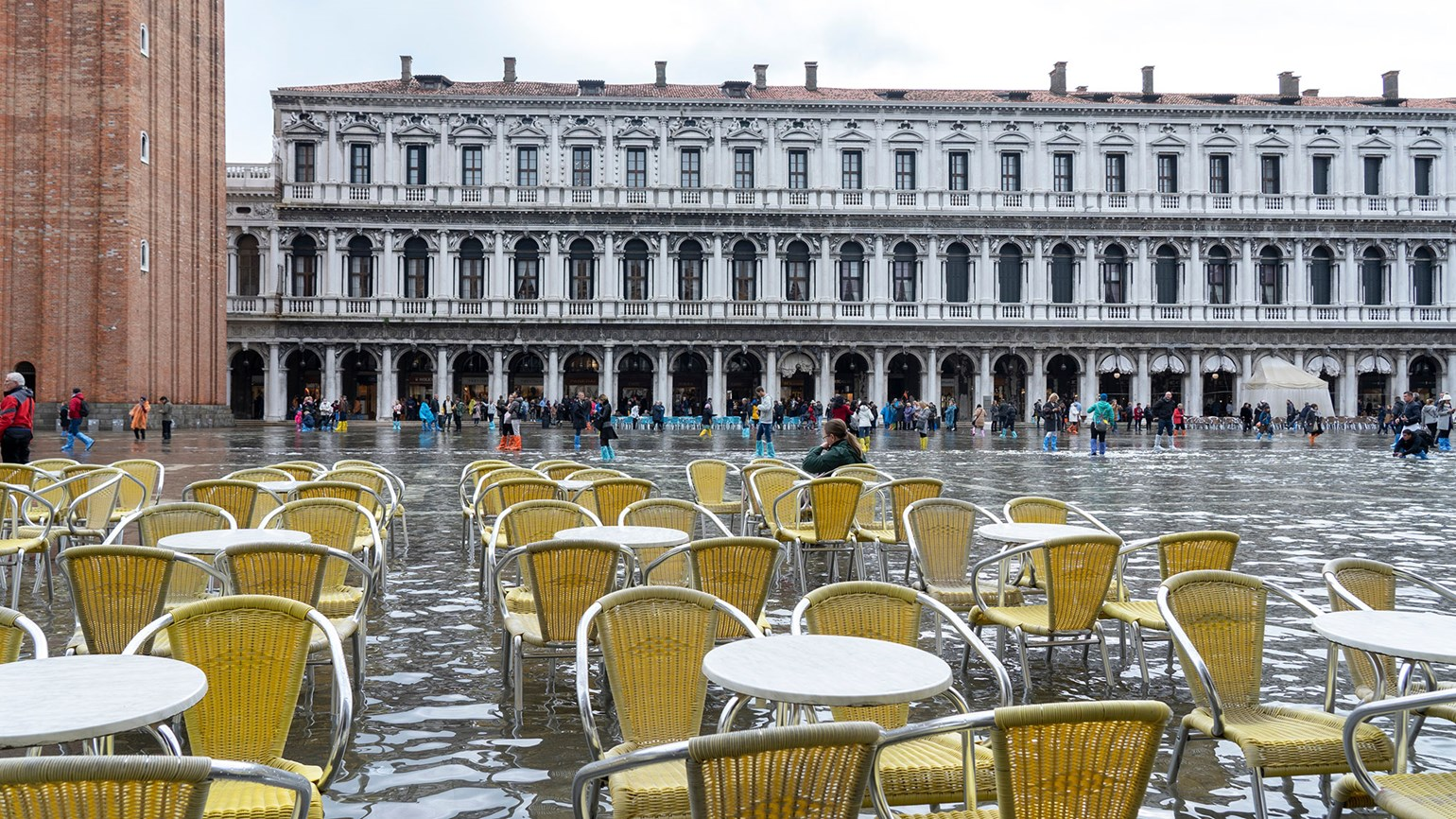 Venice sees third major flood in one week