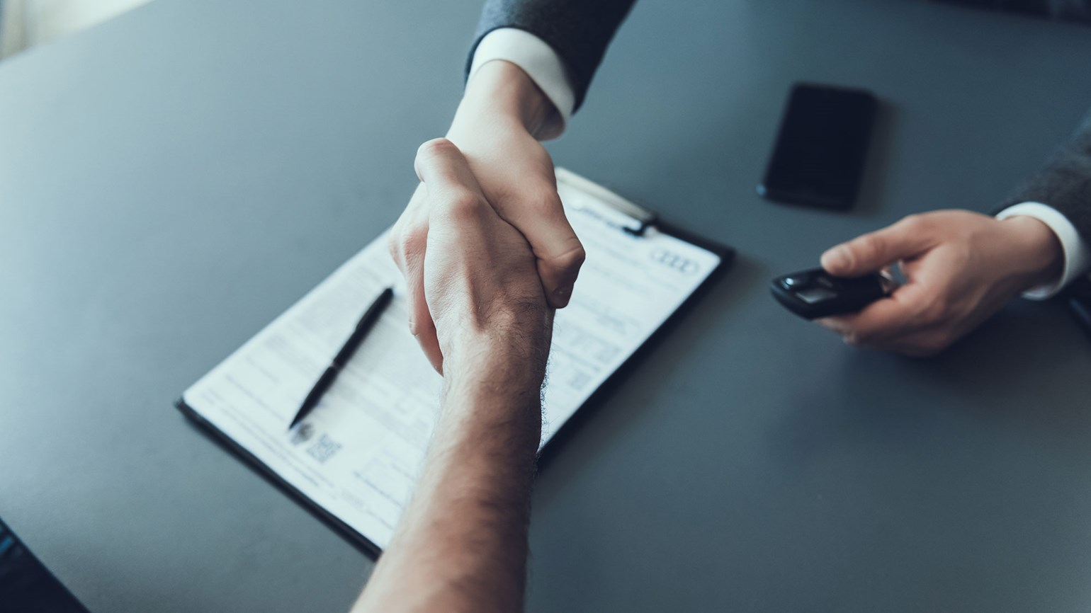 Business agreement handshake [Credit: VGstockstudio/Shutterstock.com]