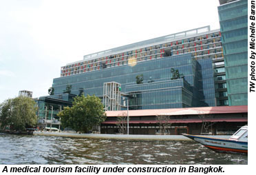 A medical tourism facility under construction in Bangkok.