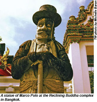 Marco Polo at the Reclining Buddha complex