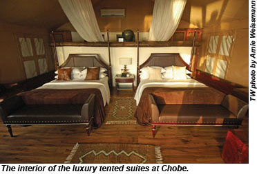 Tented suites at Chobe