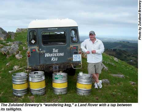 Zululand Brewerys Wandering Keg.