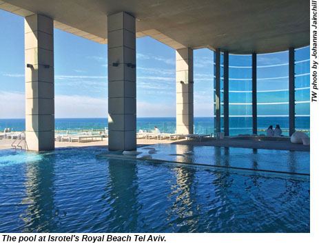 The pool at Isrotel's Royal Beach Tel Aviv.