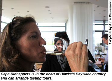 Cape Kidnappers wine tasting