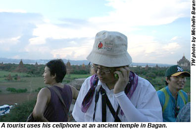 Myanmar Temple Cellphones
