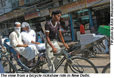 New Delhi rickshaw ride