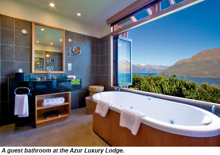 A guest bathroom at the Azur Luxury Lodge.