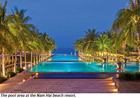 Nam Hai Beach Resort Pool