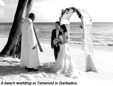 Tamarind beach wedding