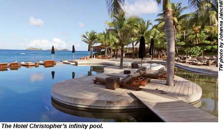 The infinity pool at Hotel Christopher.
