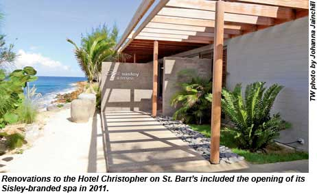 Renovations to the Hotel Christopher included the opening of its Sisley-branded spa in 2011.