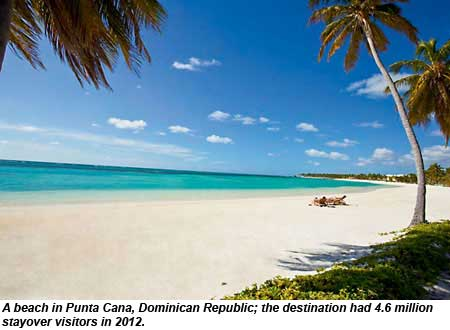 A beach in Punta Cana, Dominican Republic.