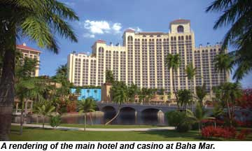 A rendering of the main hotel and casino at Baha Mar.