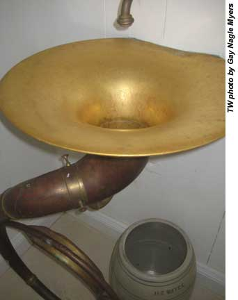 Eleuthera sink made from tuba