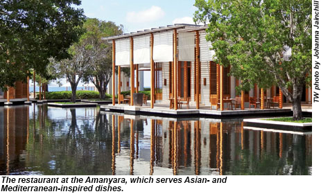 The restaurant at Amanyara