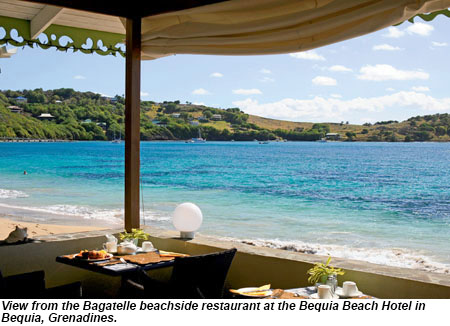 Bagatelle Restaurant at Bequia Beach Hotel.
