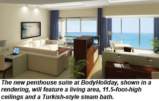 BodyHoliday penthouse suite rendering