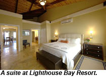 Lighthouse Bay Resort suite