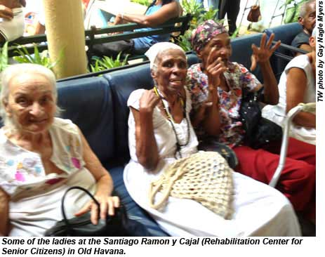 Some of the ladies at the Rehabilitation Center for Senior Citizens in Old Havana.