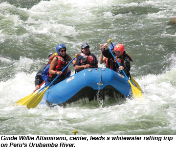 Peru Whitewater rafting
