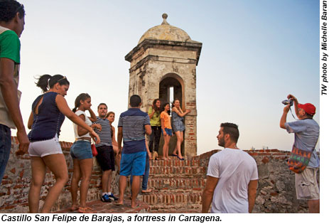 Castillo San Felipe de Barajas in Cartagena.