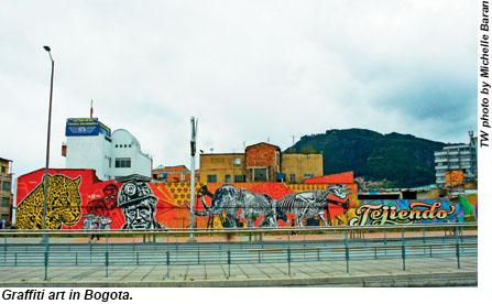 Graffiti art in Bogota, Colombia.
