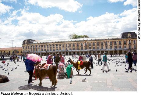 Plaza Bolivar in Bogota, Colombia.