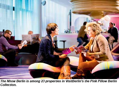 Nhow Berlin is part of the Pink Pillow Collection.