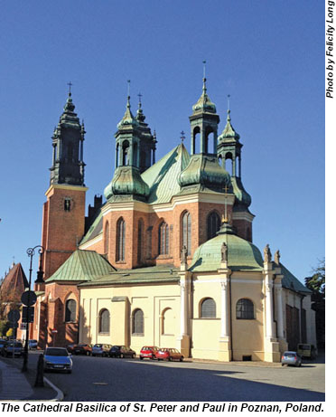 The Cathedral Basilica of St. Peter and Paul in Poznan, Poland.