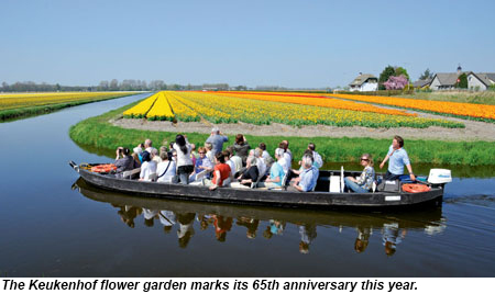 The Keukenhof flower garden marks its 65th anniversary this year.