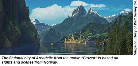 Arendelle, from 'Frozen'