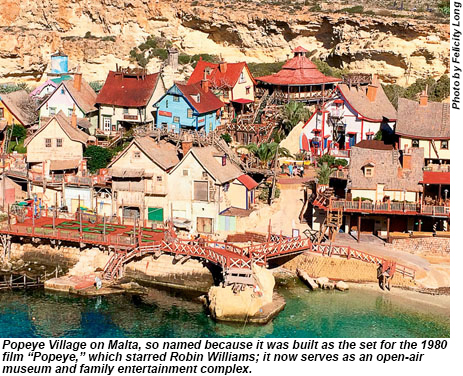 Popeye Village on Malta.