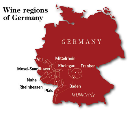 Hospitality In German Wine Country Travel Weekly - Germany vineyards map