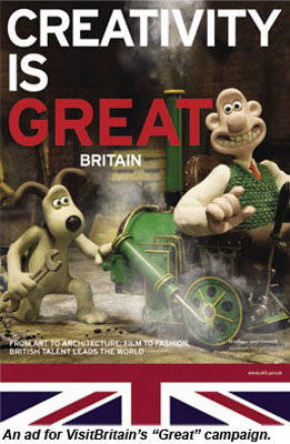 VisitBritain ad for Great campaign