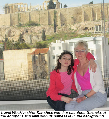 Kate and Gavriela at the Acropolis Musuem.