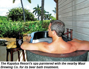 Kapaula Spa Maui Brewing Beer Bath