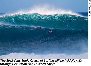 Officials Announce Oahu S Vans Triple Crown Of Surfing