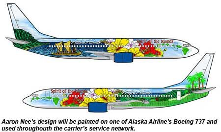 Alaska Airlines Paint The Plane Spirit of Aloha
