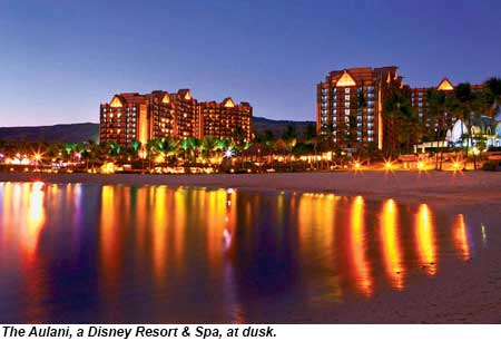 Aulani at dusk
