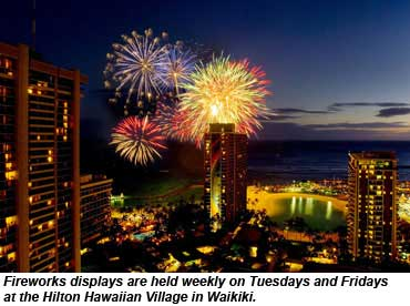 Hilton Hawaiian Village Fireworks