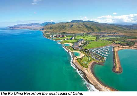 The Ko Olina Resort on the west coast of Oahu.