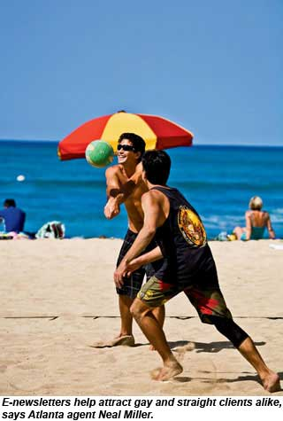 guys playing volleyball