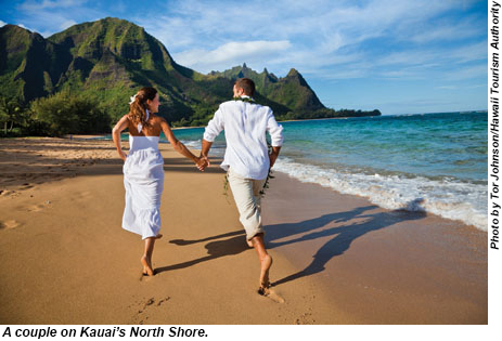Couple on the North Shore of Kauai.