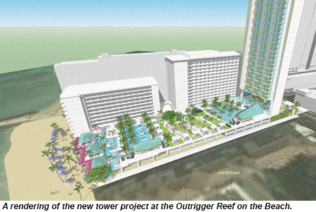 Outrigger Reef on the Beach new tower rendering