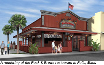 A rendering of the Rock and Brews restaurant.