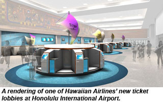 Hawaiian Airlines ticket lobby revamp