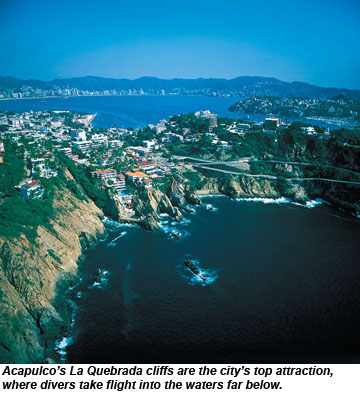 La Quebrada cliffs in Acapulco