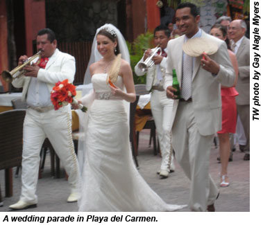 Playa del Carmen wedding parade