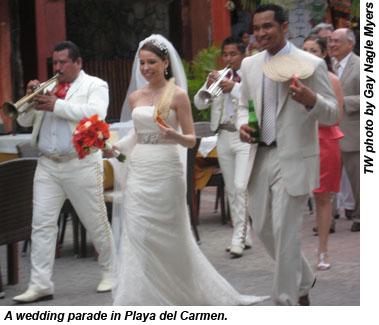 Playa del Carmen wedding parade