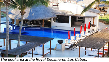 Royal Decameron Los Cabos pool area